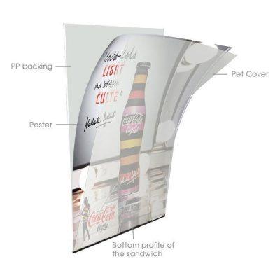 24x36 Slide-in A Frame Board Silver Sidewalk Sign