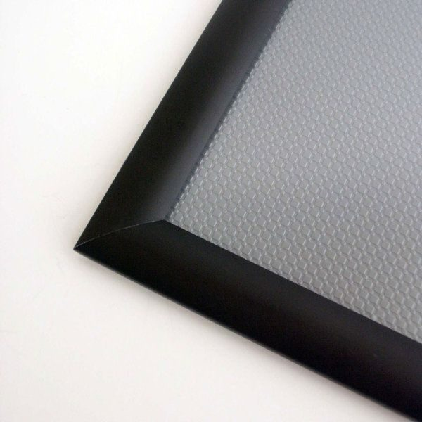 24x36 Snap Poster Frame - 1.25 inch Black Profile, Safe Round Corner