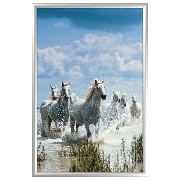 24x36 Snap Poster Frame - 1 inch Silver Profile, Mitred Corner