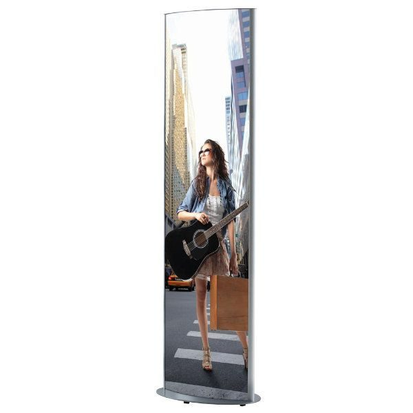 "27""w x 67""h Mono Totem Poster Display Stand Without Light"