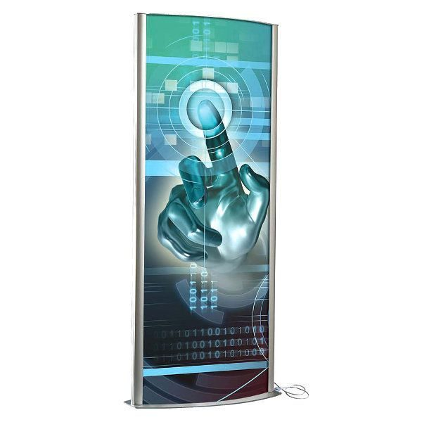"""27""""w x 67""""h Totem Poster Display Stand Double Sided, With Light"""
