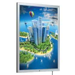 "30"" x 40"" Lockable Weatherproof Smart LED Light Box 1.38"" Profile"