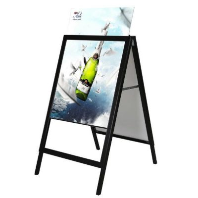 30x40 Slide-in A Frame Board Black Sidewalk Sign