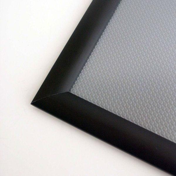 30x40 Snap Poster Frame - 1.25 inch Black Profile, Safe Round Corner