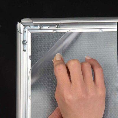 30x40 Snap Poster Frame - 1.77 inch Black Profile, Mitred Corner