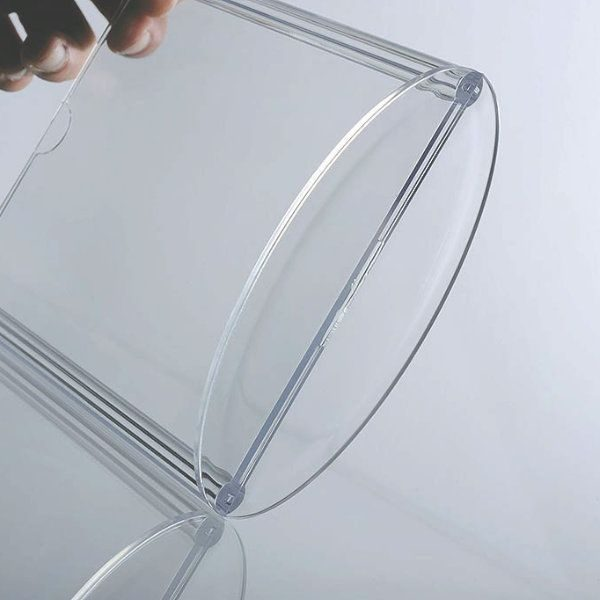 "4""w x 6""h Oval Based Clear Acrylic Leaflet & Sign Holder"