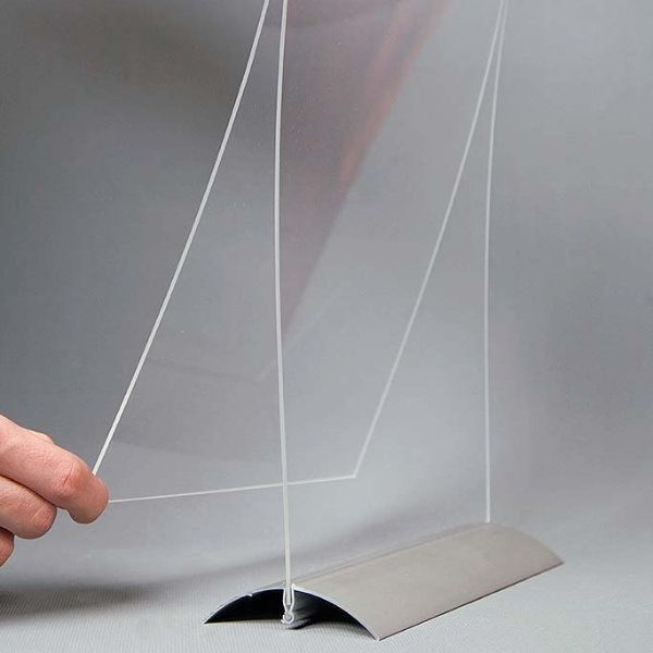 "4""w x 6""h Swing Wing Sign Holder with Clear Acrylic Top"