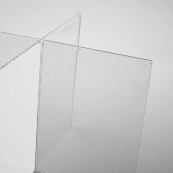 "4x(4""w x 6""h) Acrylic Cross Sign Holder Portrait 8 Sides"