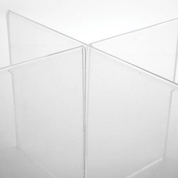 "4x(5""w x 7""h) Acrylic Cross Sign Holder Portrait 8 Sides"