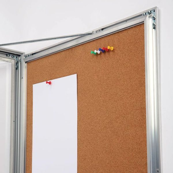 "4x(8.5""w x 11h"") Universal Showboard With Cork Aluminum Frame"