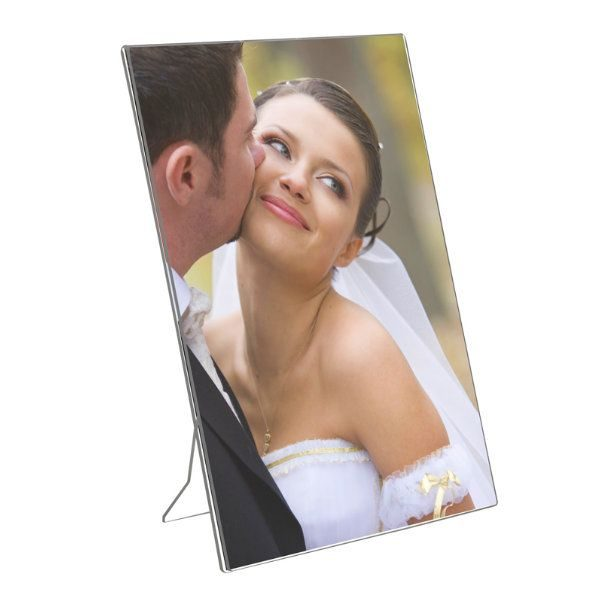 "5""w x 7""h Acrylic Picture Frame & Sign Holder"