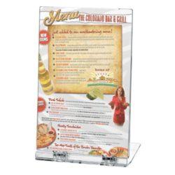 "5""w x 7""h Foldable Clear Acrylic Brochure & Leaflet Holder"
