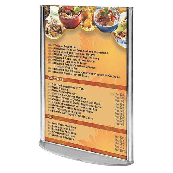"5""w x 7""h Oval Based Clear Acrylic Leaflet & Sign Holder"