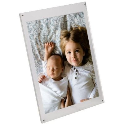 "5""w x 7""h Table Top Clear Acrylic L Sign Frame"