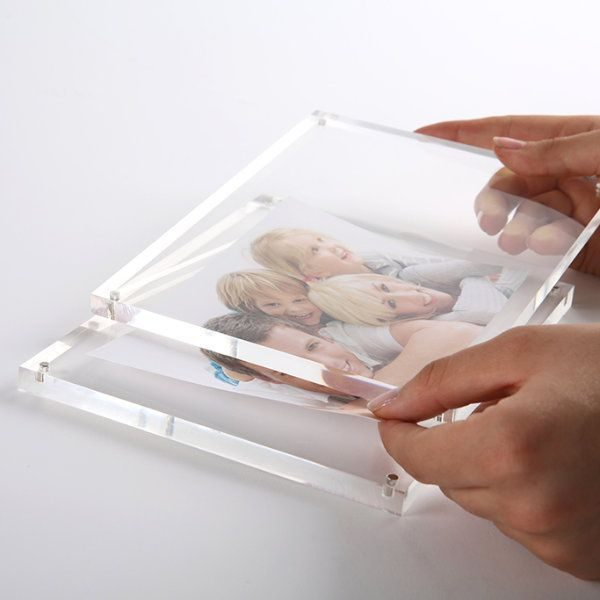 "5""w x 7""h Tabletop Clear Acrylic Sign Frame"