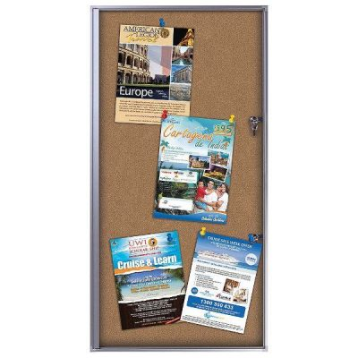 "6x(8.5""w x 11h"") Cork Office Board Aluminum Frame Indoor Use"