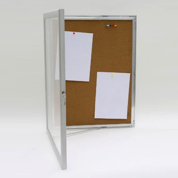 "6x(8.5""w x 11h"") Universal Showboard With Cork Aluminum Frame"