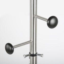 74x14 Stainless Steel Coat Hanger, Maze Coat Rack, Black