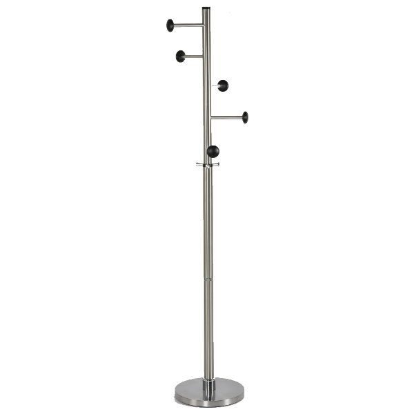 74x14 Stainless Steel Coat Hanger, Maze Coat Rack, Black