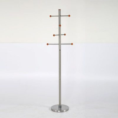 74x19 Stainless Steel Coat Hanger, Maze Coat Rack, Cherry