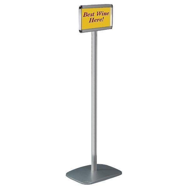"8.5"" x 11"" Adjustable Floor Menu Stand & Floor Sign Stand"