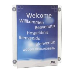 "8.5""w x 11""h Acrylic Clear Sign Holder Portrait For Window"