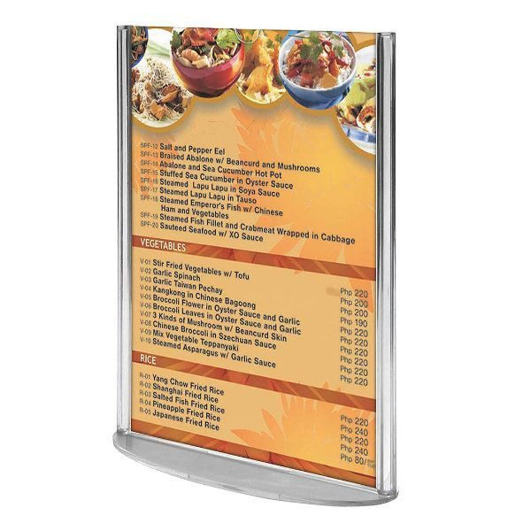 "8.5""w x 11""h Oval Based Clear Acrylic Leaflet & Sign Holder"