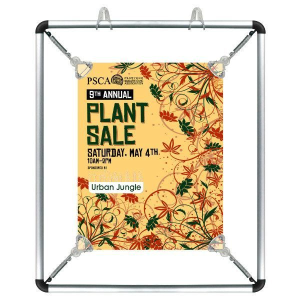 "8.5""w x 11""h Stretch Poster Holder - Silver Aluminum Profile"