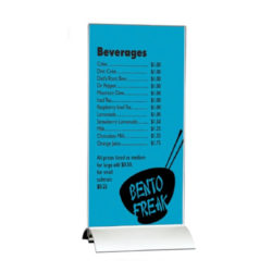 """8.5""""w x 11""""h Swing Wing Sign Holder with Clear Acrylic Top"""