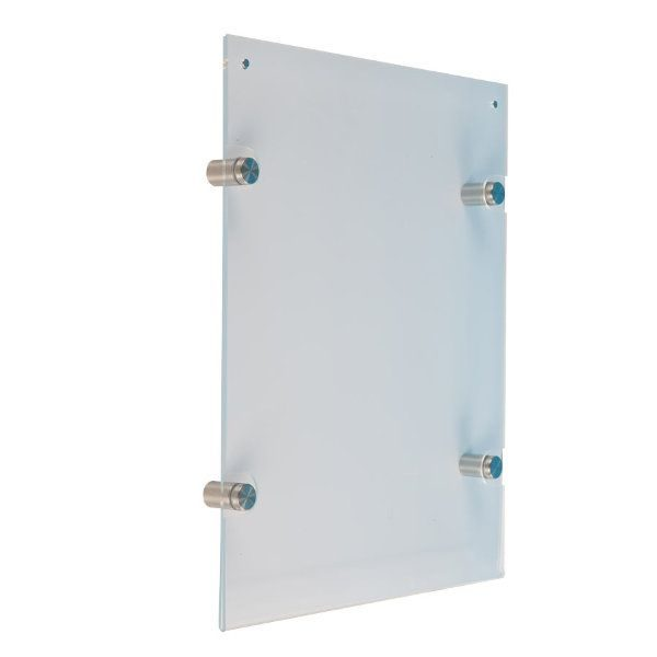 "8.5""w x 11""h Wall Mount Clear Acrylic Sign Holder & Frame"