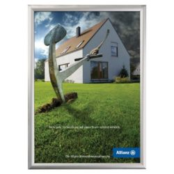 8.5x11 Security Snap Poster Frames - 1 inch Silver Color Profile