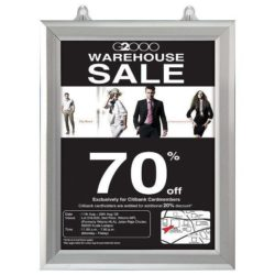 8.5x11 Slide In Frame - 1 inch Silver Mitred Profile Double Sided