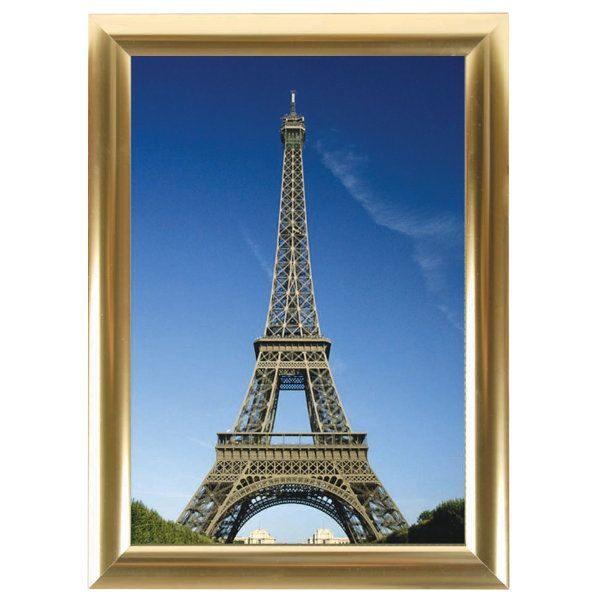 8.5x11 Snap Poster Frame - 1 Golden Look Profile, Mitred Corner