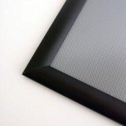 8.5x11 Snap Poster Frame - 1 inch Black Profile, Mitred Corner