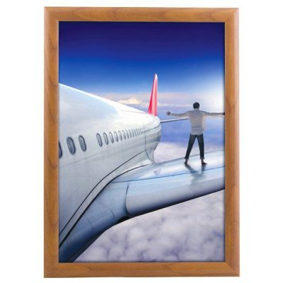8.5x11 Snap Poster Frame - 1 inch Wood Look Effect Mitred Profile