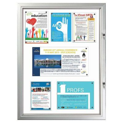 "9x(8.5""w x 11h"") Enclosed Magnetic Bulletin Board Outdoor Use"