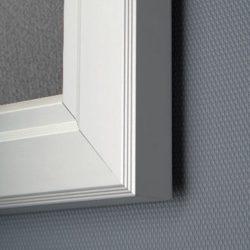 """9x(8.5""""w x 11h"""") Grey Felt Enclosed Bulletin Board Outdoor Use"""
