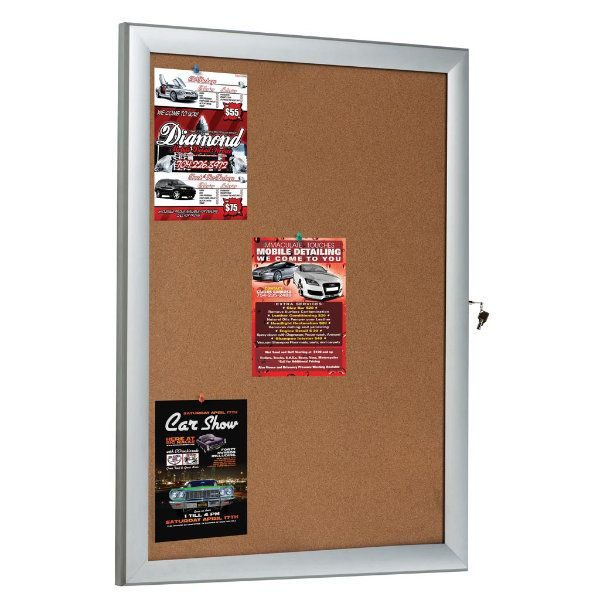"9x(8.5""w x 11h"") Universal Showboard With Cork Aluminum Frame"