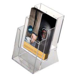 """Brochure - Leaflet Holder 5.5""""w x 8.5""""h 3 Pockets"""