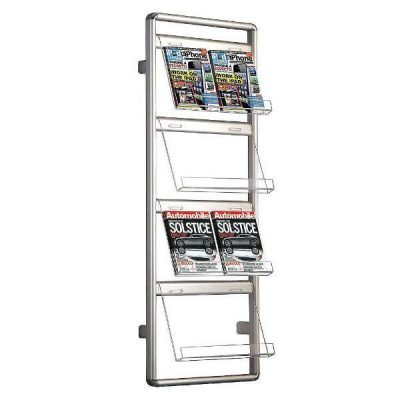 "Brochure Set 4 x 2 * (8 1/2"" x 11"") Capacity Wall Mount Holder"
