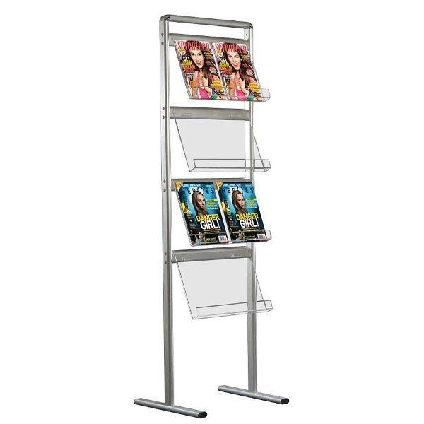 "Brochure Set Standing Single Sided 4 x 2 * (8 1/2"" x 11"") Capacity"