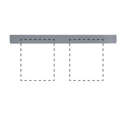 "Clip Board Wall Unit Grey, For 2 x (8.5""w x 11""h) Papers Only Bar"