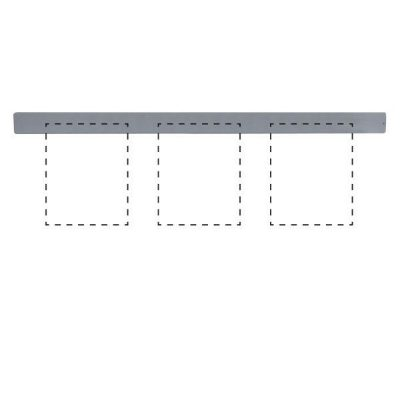 "Clip Board Wall Unit Grey, For 3 x (8.5""w x 11""h) Papers Only Bar"