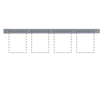 Clip Board Wall Unit Grey, For 4 x (8.5