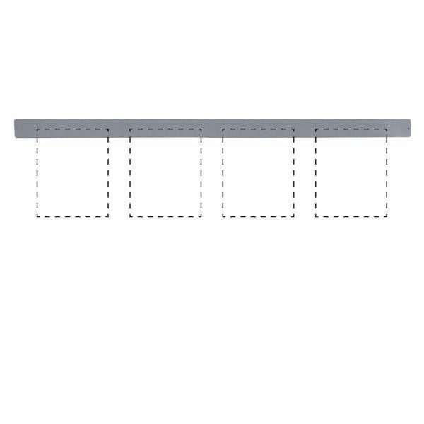 "Clip Board Wall Unit Grey, For 4 x (8.5""w x 11""h) Papers Only Bar"