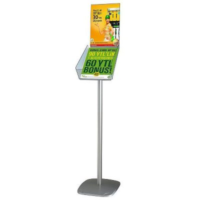 "Decorative Brochure Stand Plus 8-1/2""x11"" Paper Area, Portrait"