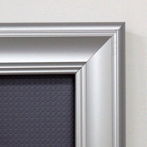 "Fancy Frame 22'' X 28'' Poster Size 1.58"" Silver Color Profile, Mitred Corner"