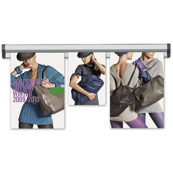 """Fast Note 12"""" Poster Width Silver Anodized Aluminum"""