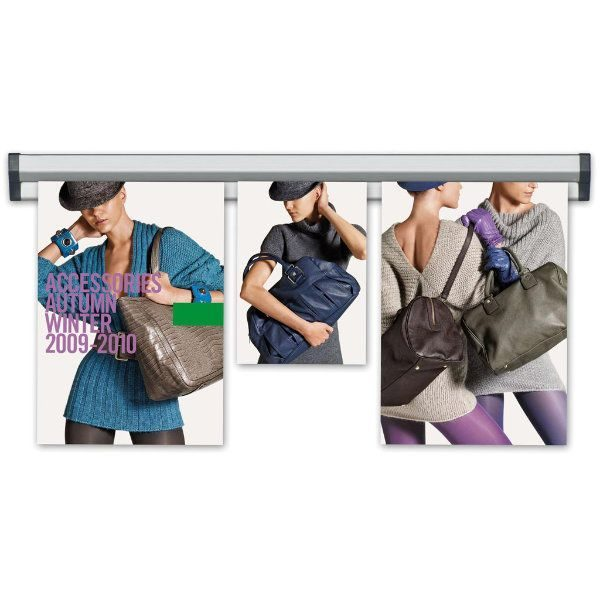 "Fast Note 24"" Poster Width Silver Anodized Aluminum"