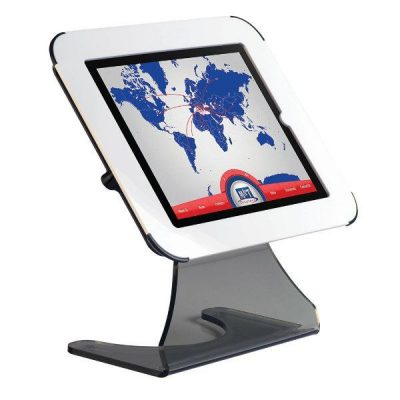 iPad Desktop Kiosk White for iPad, iPad 2 & iPad 3